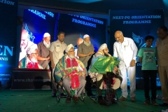 Dr. Abdul Qadeer felicitated NEET PG First Rank Holder Dr. Ashraf Kesharani at Bidar in a programme organised by Shaheen Group of Institutions