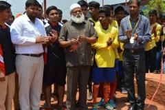 Dr. Abdul Qadeer inaugurated the 'Sports Meet' organised by Edu-Sports at Shaheen College, Bidar