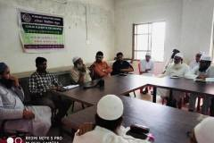Dr. Abdul Qadeer interacting with Ulemas and Huffaz at Scholar School, Himatnagar, Gujarat
