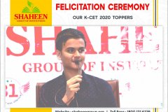 Glimpses of Felicitation Ceremony of our K-CET 2020 State Toppers