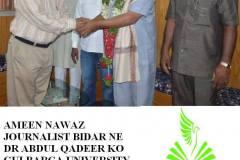 Gulbarga University Gulbarga ki Janib se doctorate degree diye jane per Mukhtalif Sahkhsiyat ki janib se Dr Abdul Qadeer ko