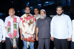 A welcome reception and facilitation of Mohd. Nadeem UPSC candidate of SHAHEEN securing 656 Civil Services Rank
