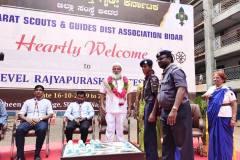 Bharat Scouts and Guides State Level Rajyapuraskara Testing Camp was organised at Shaheen College, Bidar